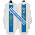 Chasuble, White with Blue, Marian Orphrey
