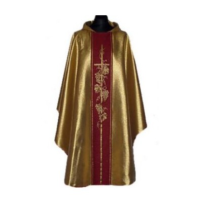 Gold Chasuble with Centre Cross