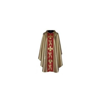 Gold Chasuble with red/gold Orphrey Panels