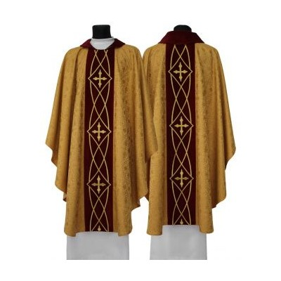 Gold Embroidered chasuble with stole