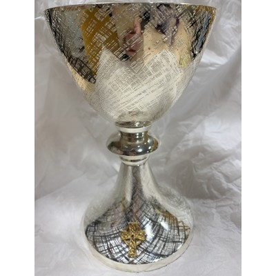 JANUARY 2021 SALE - SIlver Plated Chalice with patten.